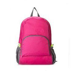 a57e4e04d470 Portable Fashion Travel Backpacks Zipper Soild Nylon Back Pack Daily Traveling  Women men Shoulder Bags Folding Bag