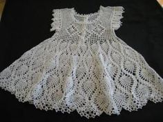 Crochet Baby Dress Free Crochet Baby Dress Patterns | Baby Christening Dress or...