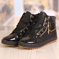 Ghete Dama Blaxy Sidex Negre Cod: 881 High Tops, High Top Sneakers, Shoes, Fashion, Moda, Zapatos, Shoes Outlet, Fashion Styles, Shoe