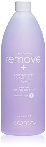 Best Makeup Bag | Zoya Remove 3 in 1 Polish Remover 32 Fluid Ounce ** More info could be found at the image url. Note:It is Affiliate Link to Amazon.