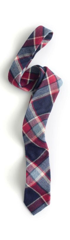 It takes a little courage to wear tartan & you can begin with small doses like this