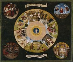 """Hieronymus Bosch- The Seven Deadly Sins and the Four Last Things  ~ """"Cave cave, Deus videt"""""""