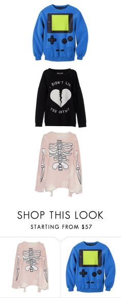 """""""Michael Clifford Inspired Sweaters #3"""" by crybabyteen ❤ liked on Polyvore featuring Cotton Candy, ONLY, tumblr, Sweater, 5sos and michaelclifford"""