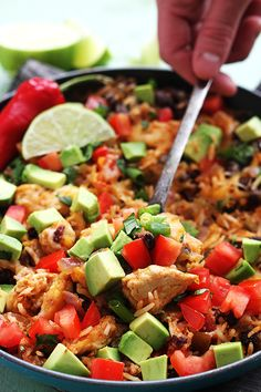 Chicken Taco Rice Skillet