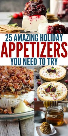 Enjoying holiday appetizers with your friends and family is a big part of what makes the holidays so magical. Here are 25 holiday appetizer recipes to try. recipes 25 Amazing Holiday Appetizers You Need To Try Right Now Brie Bites, Best Appetizer Recipes, Appetizers For Party, Frozen Appetizers, Cold Appetizers, Dinner Recipes, Cooking Challenge, Dark Chocolate Cakes, The Fresh