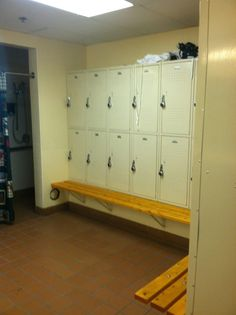 Make your locker room even better by providing benches for your staff or clients! An idea so simple and economical, it sometimes gets over looked. :) #lockers #lockerrooms #lockerroombenches