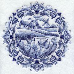 Love this Dutch Delft Blue design!
