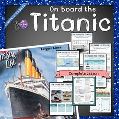 On board the Titanic - Worksheets Bundle Titanic Deaths, Rms Titanic, Write A Diary Entry, Writing A Biography, Reading Posters, Esl Resources, English Language Learners, English Lessons, Homeschooling