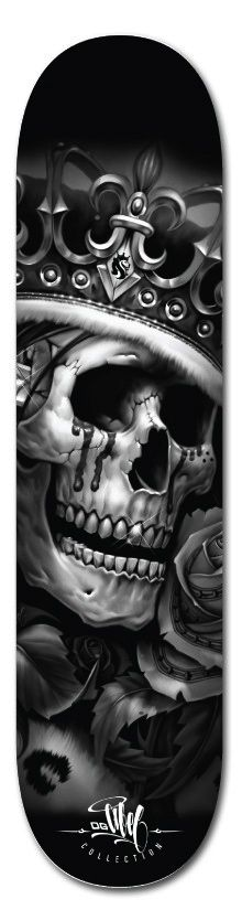I would learn how to ride a skateboard and I would ride it everyday if I got one with this design!!