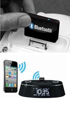 Bluetooth Wireless Audio Receiver :: new iPhone or iPad won't work with your current iPhone speaker dock? Simple solution.