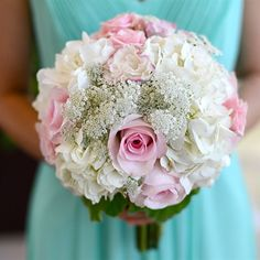 Rose and Hydrangea Bridesmaid Bouquet