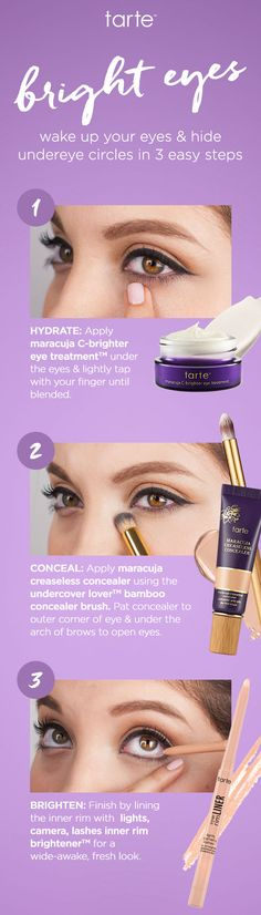Follow these simple steps for brighter, more beautiful eyes. #howto #eyelovetarte #skincare #beauty