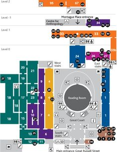 British museum - Floor plan of the ground floor