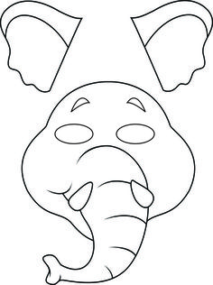 1000 images about l phants on pinterest elephant for Elephant template for preschool