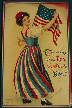 Items similar to of July /Patriotic Girl Holds American Flag /Patriotic/ Independence Day /Vintage Postcard/ Art Print Magnet on Etsy Look Vintage, Vintage Images, Vintage Prints, Vintage Roses, Vintage Pictures, Vintage Cards, Vintage Postcards, Vintage Ephemera, Voyage Usa