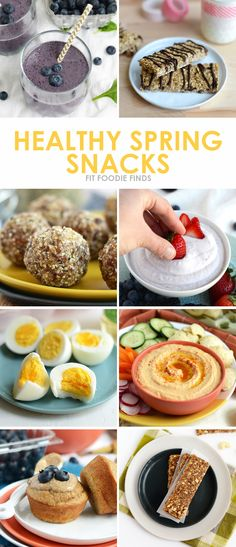 Spring has Sprung. Check out these Healthy Spring Snack Recipes from FitFoodieFinds.com!