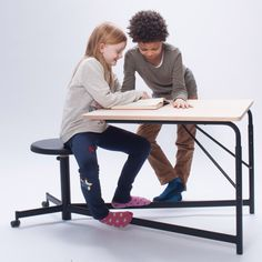 Students from the Royal Danish Academy of Fine Arts have created a collection of furniture for school classrooms, intended to help children stay focused during lessons.