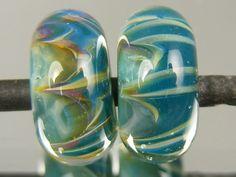 DanielsBeads Boro Lampwork Glass Beads Pair for Earrings Материалы: boro, glass, boro glass, pyrex, borosilicate, beads, bead set Огайо, США