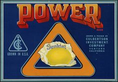 Power Brand: Grown & packed by Culbertson Investment Company, Ventura California by Boston Public Library, via Flickr