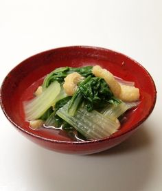 Shirona/Torina green vegetable in mild broth しろ菜/とり菜のたいたん