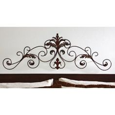 Scrolled Leaf Flourish Metal Wall Decor By Collections Etc Wall Decor Design, Metal Wall Decor, Metal Wall Art, Bedroom Wall Decor Above Bed, Picture Arrangements, Collections Etc, Interior Decorating, Colours, Flourish