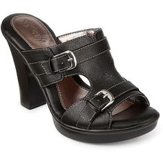 Eurosoft(TM) by Sofft Verna Slide Sandals ($45) ❤ liked on Polyvore