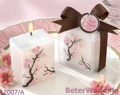 桜のミニ- ピラーキャンドル       http://aliexpress.com/store/product/Wedding-Dress-Tuxedo-Favor-Boxes-120pcs-60pair-TH018-Wedding-Gift-and-Wedding-Souvenir-wholesale-BeterWedding/512567_594555273.html    #結婚式の好意 #結婚式のお土産 #パーティの贈り物 #partysupplies      纯欧式, 专属于你的结婚回赠小礼物,上海婚庆用品批发    上海倍乐婚品 TEL: +86-21-57750096
