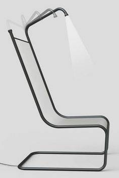 Simply Seating System with Metal Frame, Hidden Light Chair by Giha Woo