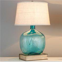 pottery barn clift glass table lamp base light blue home lighting pinterest table lamp base glass table lamps and lamp bases