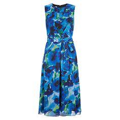 770b33fbe5c Buy Hobbs Liberton Dress, Blue Online at johnlewis.com Blue Midi Dress, Blue