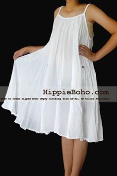 - Size Hippie Boho Clothing Gypsy White Plus Size Strap Mini Dress Bohemian Attire, Bohemian Style Clothing, Bohemian Mode, Hippie Bohemian, Boho Style, Boho Gypsy, Modest Dresses, Trendy Dresses, Nice Dresses