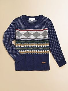 Burberry - Boy's Patterned Lambswool Sweater
