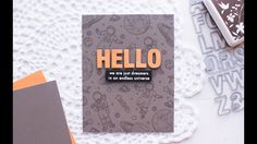 14 Aug 2017   Hero Arts Blog   A Masculine Card with Tone-on-tone Stamped Background  
