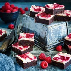 As if brownies weren't decadent enough, we've added a raspberry cheesecake layer for the ultimate Summer picnic treat.
