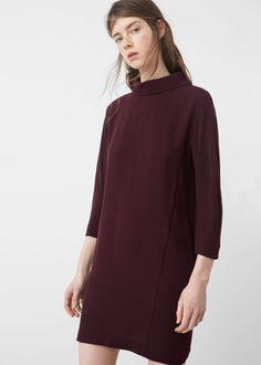 Soepelvallende rechte jurk - Jurken voor Dames | MANGO Nederland