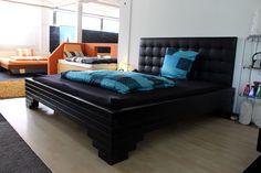 BESTBED Design: DeSohr Balken Bett im Blockhausstil mit gigantischen Maßen als XL Wasserbett in Freeflow (0% / 0%) - rechte Seite als Super FreeFlow