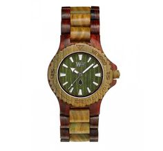 WeWOOD DATE Bicolor Brown/Army horloge - Horloges.nl