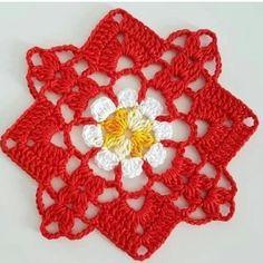 Crochet Art, Filet Crochet, Crochet Motif, Crochet Doilies, Crochet Flowers, Granny Square Crochet Pattern, Crochet Stitches Patterns, Doily Patterns, Crochet Flower Tutorial