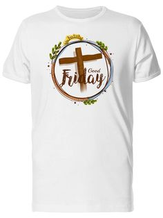 Good Friday With Cross Wreath Men's Tee -Image by Shutterstock Bunny Man, Cross Wreath, Good Friday, Mens Tees, Online Price, Image, Ebay, Products, Beauty Products