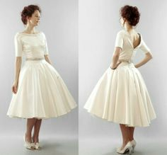 Blush tea length dress