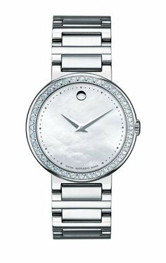 Movado Women's 0606421 Concerto Stainless-Steel and Diamonds White Mother-Of-Pearl Dial Watch Movado. $1995.00. Swiss-Quartz. Case diameter: 30.00mm. White Mother-Of-Pearl dial. Water-resistant to 99 feet (30 M). Stainless steel and diamond