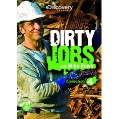 """Dirty Jobs: Collection 4. Come along as host Mike Rowe finds the fun in the world's dirtiest, most dangerous jobs. Join Mike on his adventures in these 13 episodes as he exposes the dirty side of  """"clean energy"""" and much more. With these 27 jobs, you'll gain a new appreciation for the hard-working people dedicated to cleaning up our environment and to keeping our lives running smoothly, no matter how dirty they have to get!       Mackinac Island Horse Keeper Alaska Wild Goose Chaser Animal…"""