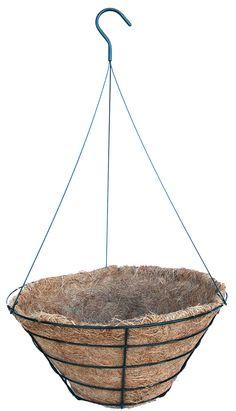 """16"""" CocoMoss ProvenGro Hanging Basket - 7"""" deep"""
