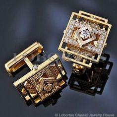 Сuff Links :: Gold, Diamonds :: Stairs To Heaven :: Men's Jewelry & Jewels www.wearethebikerstore.com | Leather, Skull, Bikers, Fashion, Men, Women, Home Decor, Jewelry, Acccessory.