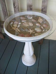 Coquilles de sable de Birdbath étoile de mer belle décoration attrayante