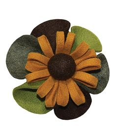 Pep up a scarf or hat with this little flower! Created from soft felt, this pin features a collection of eye-catching colors.5'' wide80% polyester / 20% rayonImported