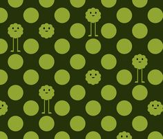 Monster Polka Dots - Olive - Large fabric by jesseesuem on Spoonflower - custom fabric