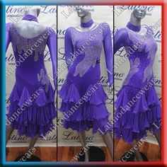 LATIN SALSA (BALLROOM) COMPETITION DRESS (LT489B) #LatinoDancewears