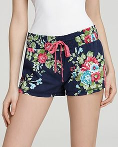 PJ Salvage Summer Floral Shorts | Bloomingdale's
