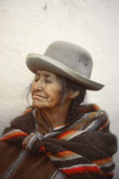 Proud cholita.  La Paz, Bolivia. 1978. Photo by Roger Yorke
